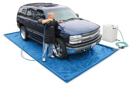 Mobile Detailing Water Reclaim Wash Mat Kit Mobile Car Wash Car Wash Business Car Wash Equipment