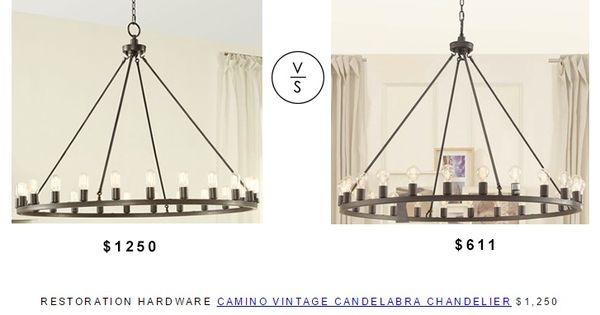 Restoration Hardware Camino Vintage Candelabra Chandelier