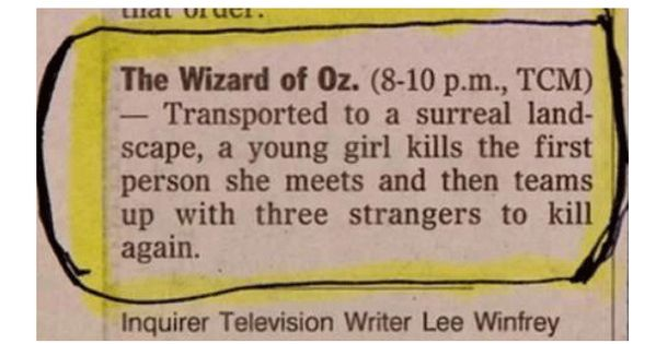 It's all about perspective - Wizard of Oz