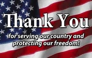 Image result for thank you for serving our country and protecting our freedom