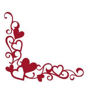 Silhouette Design Store Corner Flourish Heart Border Chunky Boarder Designs Valentine Crafts Heart Border,Traditional Latest Mangalsutra Designs Only Gold