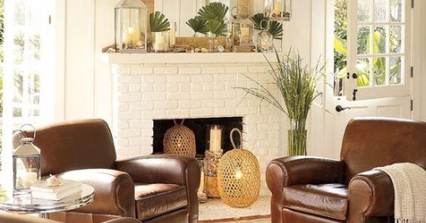 Brighten up brown leather - 5 ways to decorate around brown couches
