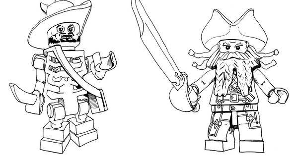 Lego Jack Sparrow Coloring Pages Movie Pinterest