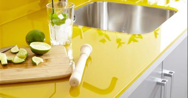 ... yellow in chalk paint over my mismatched laminate countertops Yellow