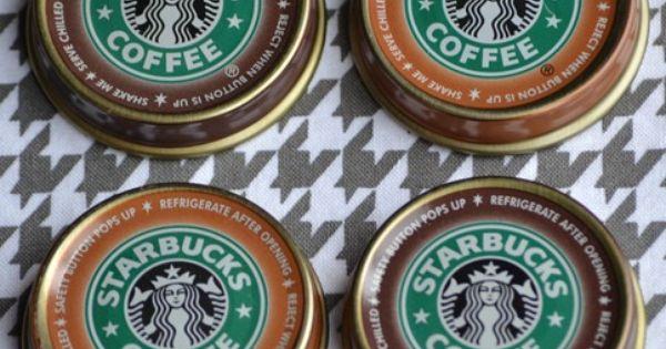 Starbucks bottle caps magnets DIY