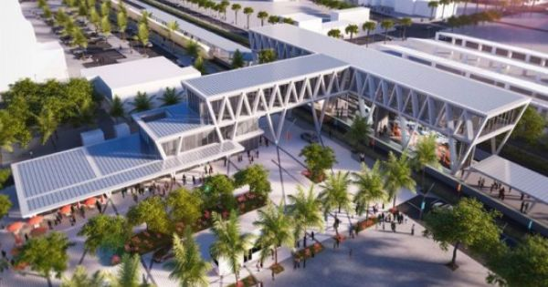 Som S West Palm Beach Concourse Is The Third Station For All Aboard Florida S Rail Network Train Station Architecture Train Station Florida