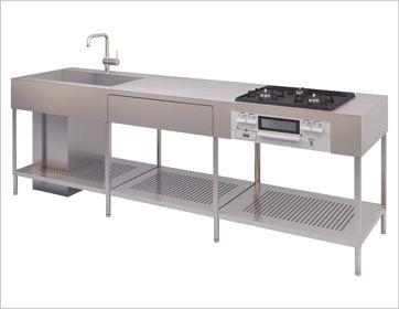 シンプルで美しいフォルム キッチンデザイン システムキッチン オッソ