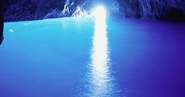 Blue Cave Hues | [ Grotto Cave in Capri, Italy ]