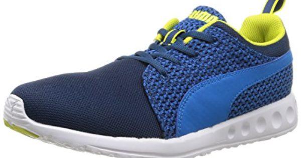 Puma Carson Run Knit - Sneakers Basses - Homme - Bleu (Poseidon-Cloisonne-Sulphur Spring) - 41 EU (7.5 UK) NX3KtHasLD