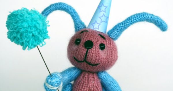 Knitting Toys In The Round : Carnival rabbit knitting pattern knitted round toys