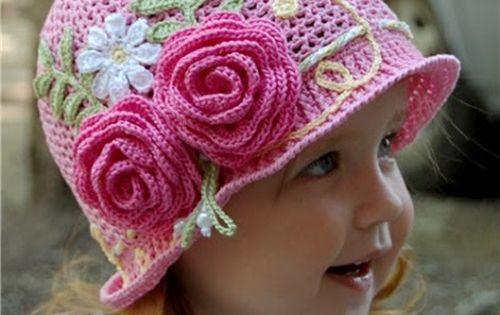 DIY Crochet Pretty Panama Hat for Girls Sun, Panama hat ...