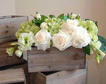 Wood Box Bo Square Vase
