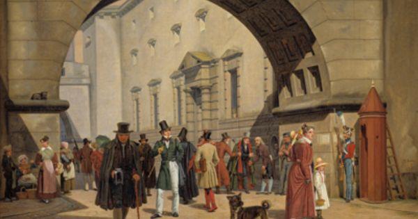 Martinus Rorbye 1803 48 Arrestbygningen Ved Rad Og Domhuset 1831 Statens Museum For Kunst National Gallery Of Denmark Ht Maling Kunst Ideer Malerier