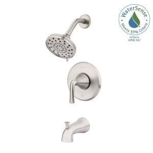 Pfister Ladera Single Handle 3 Spray Tub And Shower Faucet In Spot Defense Brushed Nickel Valve Included 8p8 Ws2lrsgs Shower Faucet Tub Shower Faucets Shower Tub