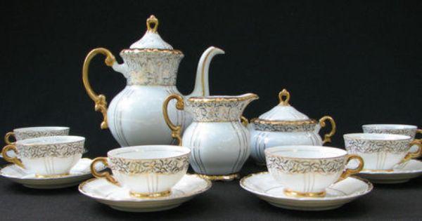 Vintage Fine Seyei China Japan 1030 15 Piece Demitasse Tea Set White With Gold Gilt Tag Sale