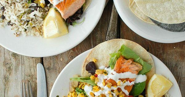... Tovar Salmon Tostada   Recipe   Corn Salsa, Tostadas and Black Beans