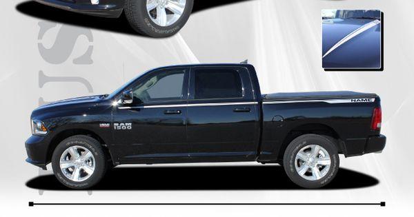2017 Dodge Ram 1500 Accessories >> 2009-2018 Dodge Ram Hustle Truck Hood Spears Spikes Side ...