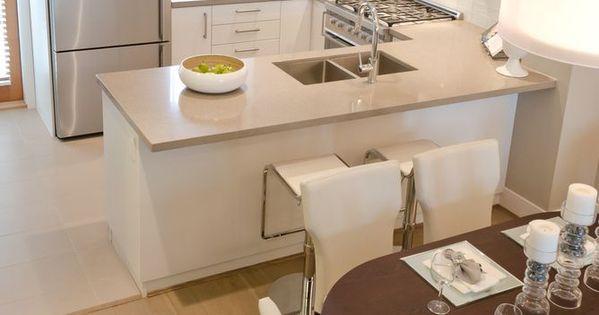 Cozinhas americanas com salas interligadas 85 projetos - Disenos de cocinas para casas pequenas ...
