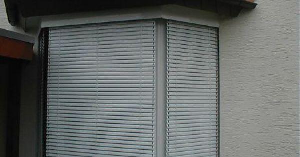 Aussenjalousie Vor Erkerfenster Aussenjalousien Jalousien Raffstore