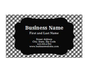 Black Checkerboard Business Card Get This Free Printable
