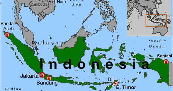 Political Map of Indonesia  Indonesia World Geography Project  Pinterest  Maps and Indonesia