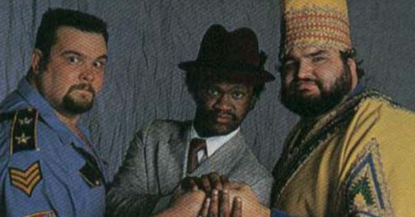 The Twin Towers. Big Bossman & Akeem w/ manager Slick ...