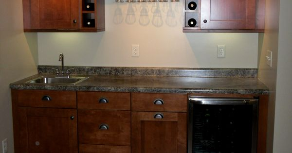 Our Wet Bar Cabinets From Home Depot Love Basement Bar Ideas Pinterest Simple Nice