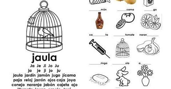 Primero101 Jornada Mañana Guia De La J J Actividades De Letras Actividades Con Palabras Actividades Con La Letra J