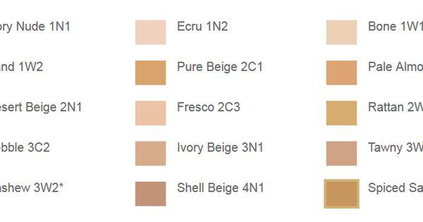 Estee Lauder Double Wear Foundation S Colour Chart I Am