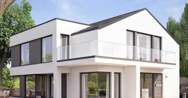 Concept m m nchen design v1 bien zenker fertighaus - Modernes einfamilienhaus satteldach ...