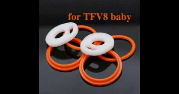 Wholesale Price For Tfv8 Baby Atomizer Replacement Top Sealing O Ring Ring Review O Ring Glass Rings