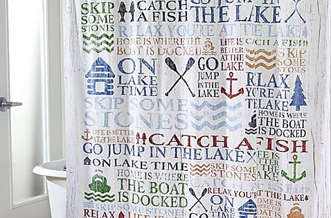 Nature Valley Lake Themed Scenic Shower Curtain Bathroom Decor