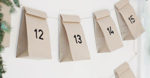 EASY Christmas diy advent ...something like this with something special for the
