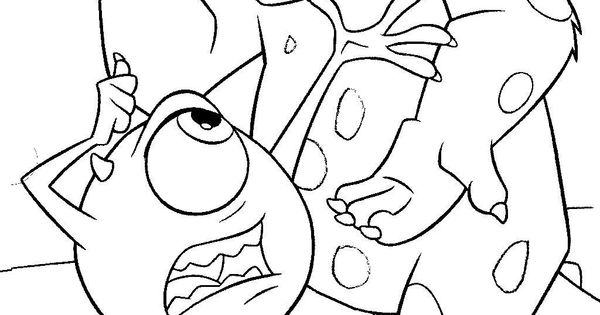 Monsters Ink Colouring Page