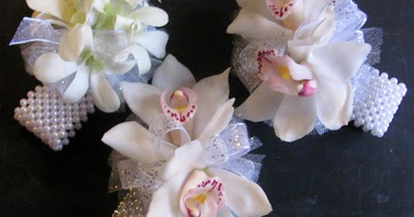 Wedding Flowers In Worcester : White orchid wrist corsages worcester florists sprout