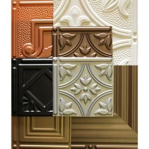 Global Specialty Products Dimensions 1 Ft X 1 Ft Glue Up Tin Ceiling Tile In Assorted Colors 000 01 The Home Depot Tin Ceiling Tiles Tin Ceiling Pvc Ceiling Tiles