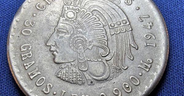 Mexico coin 1947 mexican coin silver vintage silver coin for Tattoo shops in bartlesville ok
