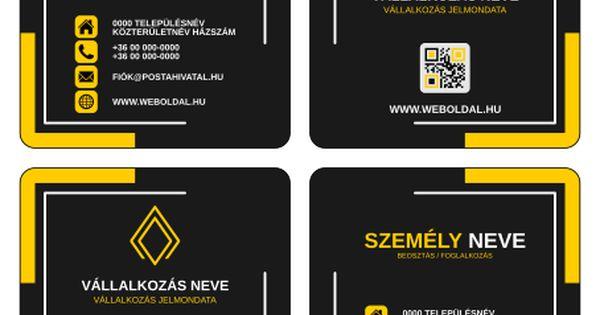 Uzleti Nevjegykartya Maskent Abc Another Business Card Tervek Inkscape Svg Formatum Okker Fekete Business Cards Cards Esty