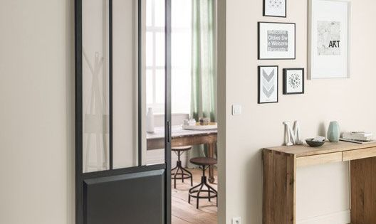 ensemble porte coulissante atelier mdf revetu avec le rail bolero noir salle de bain enfant. Black Bedroom Furniture Sets. Home Design Ideas