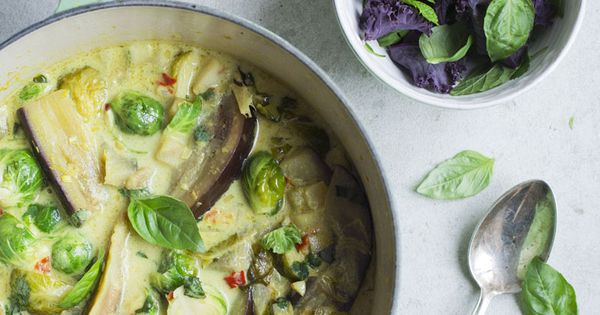 10 Best One-Pot Meals | Camille Styles - brussels sprouts and eggplant