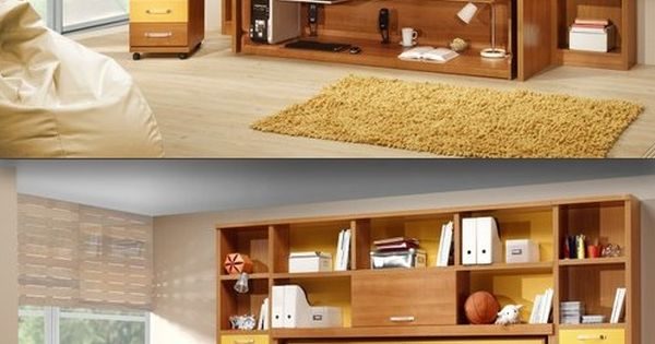 Murphy bed and desk for guest room and office combo Bedroom office combo furniture