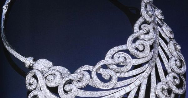 Art Deco Diamond Feather Necklace by Paul Flato, c 1930's