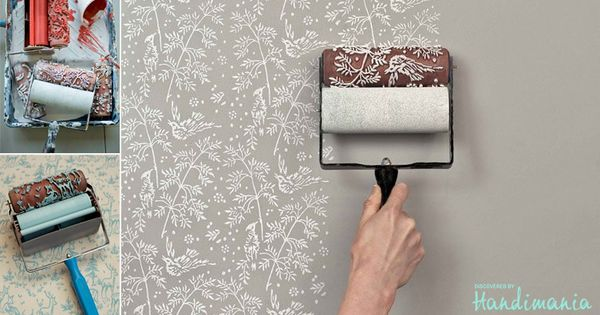 Patterned rolls for wall decoration
