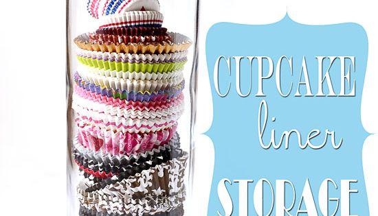 Organize Ideas Store Cupcake Liners In A Spaghetti Jar