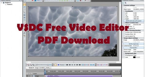 Vsdc Free Video Editor Pdf Download Tutorials