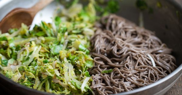 Brussels Sprouts and Soba Noodles with Ginger-Honey Sauce | Recipe ...