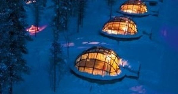 Glass Igloo Hotel in Finland... sleeping under the Northern Lights.