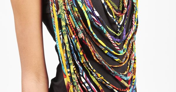 Diy ankara rope necklace rope necklace african fabric for African rope fish