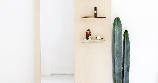 Plywood floors, Floor mirrors and Mirror with shelf on Pinterest