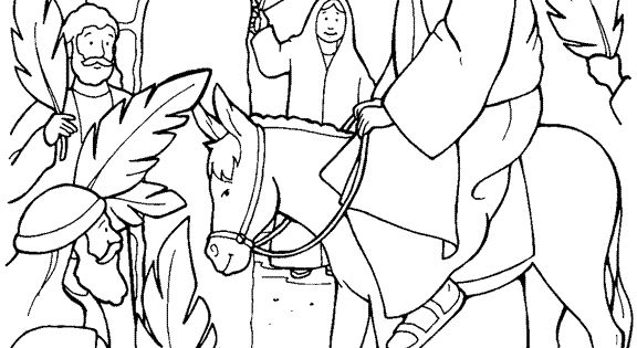 coloring pages triumphal entry - photo#19
